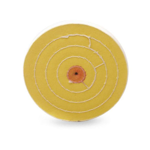 "Yellow 6"" x 60 Ply Buffing Wheel Jewelers Polishing Muslin Buff 4 Row Stitched"