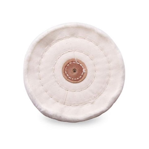 "White 6"" x 60 Ply Buffing Wheel Jewelers Polishing Buff 4 Row Stitched Treated"