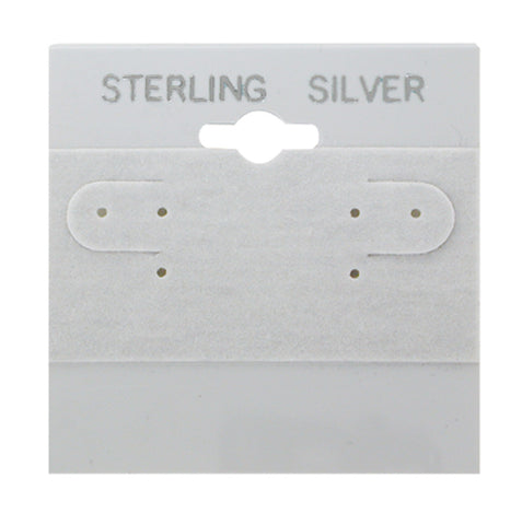 "100 Pc Gray Sterling Silver Hanging 2"" x 2"" Earring Card"