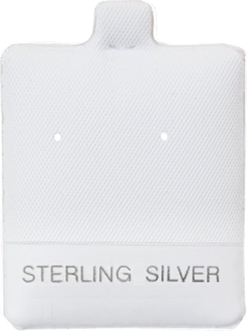 100 Piece White Sterling Silver Jewelry Puff Earring Pad Display 1.50 X 1.75