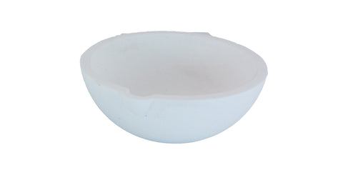 "4.25"" 640 dwt (1000 grams) Ceramic Silica Crucible"