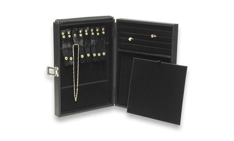 Compact Jewelry Display Carrying Case Hold Necklace Ring Watch Travel Storage