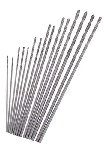 Mini Drill 15Pc Set High Speed Steel Twist Drills Bits Dremel Jobbers 0.3-1.00mm
