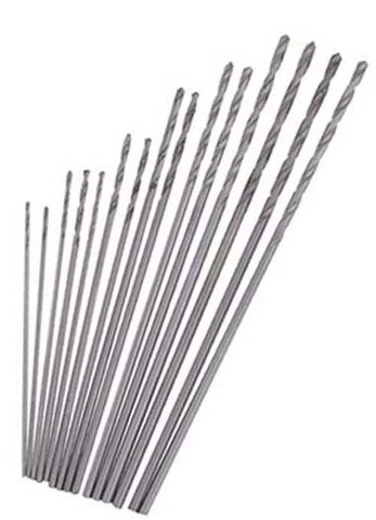 Mini Drill 15Pc Set High Speed Steel Twist Drills Bits Dremel Jobber Bit Hobby