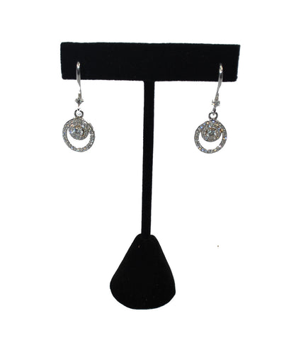 Black Velvet T-Bar Earring Jewelry Display Stand 4-3/4""
