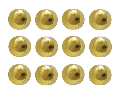 Surgical Gold Plated 4mm Ear piercing Earrings studs 12 pair Gold Earring Studs