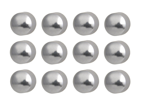 Caflon Surgical Steel Medium 4mm Ear piercing Earrings stud 12 pair Silver Ball Earring