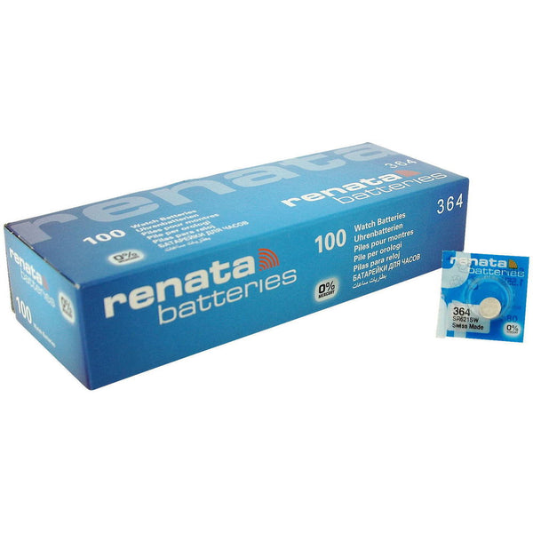 Renata Watch Batteries 100 Pieces 321 364 371 377 379 395 Swiss Made 1.55V