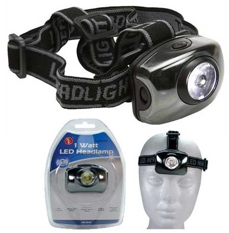 LED Headlamp Adjustable Light & Strap