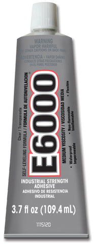 Eclectic E6000 Multi Purpose Adhesive 3.7 Ounce Tube Industrial 6 Pack