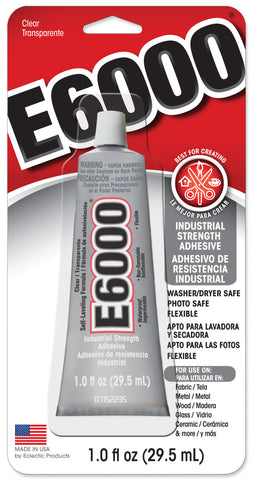 E6000 Adhesive 1 Fluid Ounce Carded Industrial Strength Adhesive 12 Pack
