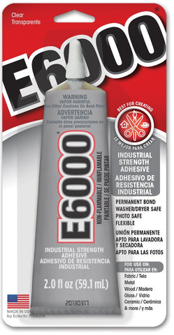 Eclectic Products 237032 2OZ Tube E-6000 Craft Adhesive 6 Pack