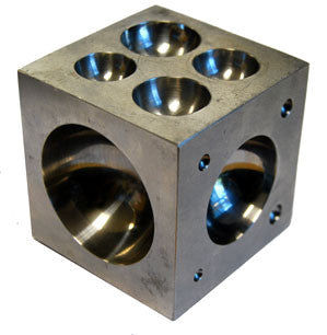 "Dapping Block 2"" x 2"" x 2"" Cube Stainless Steel Jewelry Bead Ring Craft Tool"