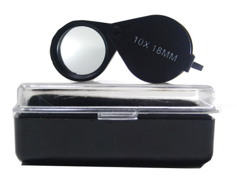 Black 10x 18mm Jewelry Loupe