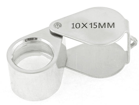 Silver 10x 15mm Jewelry Loupe