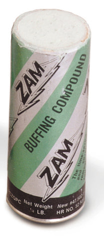 Zam Buffing Compound 4oz 1/4 lb Buff Bar Tube Turquioze Metal Silver Smithing