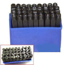 36 pc 4 mm letter number punch set