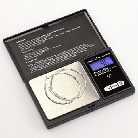 Black 100 X .01g Digital Scale