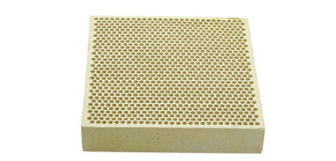 "Alumina Ceramic Soldering Plate Board Size 3"" X 3"" x 1/2"" Honey Comb Perforated"
