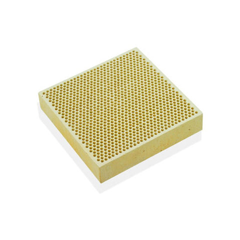"Alumina Ceramic Soldering Plate Board Size 4"" X 4"" x 1/2"" Honey Comb Perforated"
