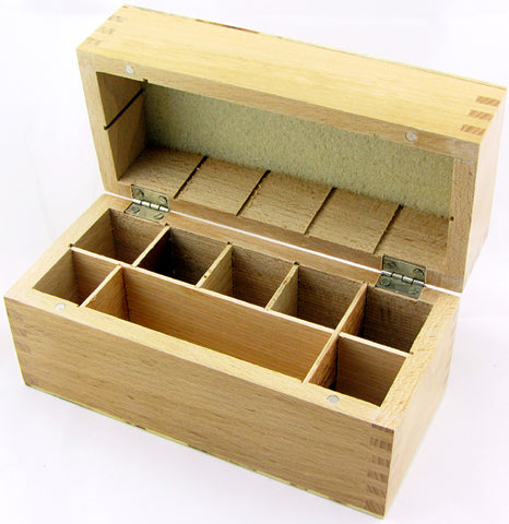 Large 8 Slot Wooden Acid Storage Box