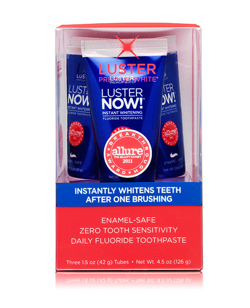 Luster NOW!®  Instant Whitening Fluoride Toothpaste (3-pack)
