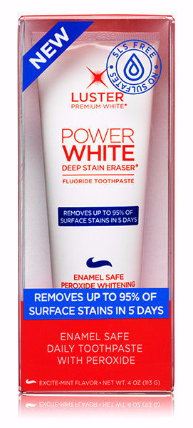 Power White Deep Stain Eraser® Fluoride Toothpaste - SULFATE FREE