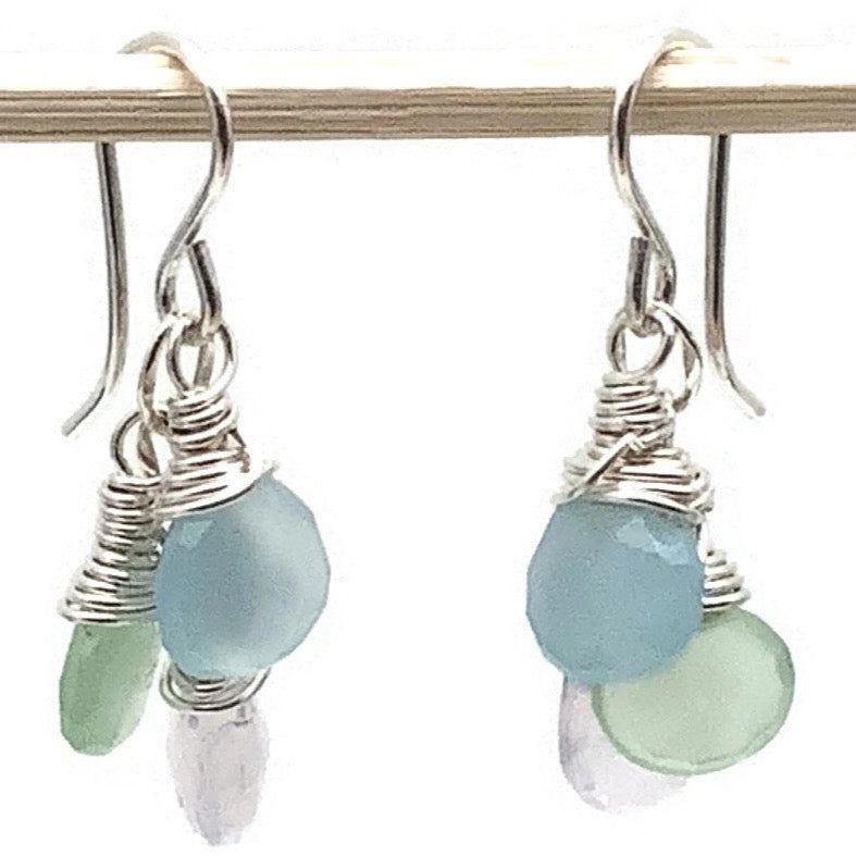 Pastel Triplet Earrings