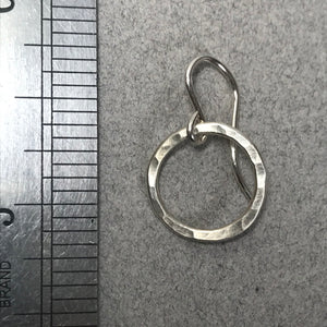 Small Pounded Circle Earrings