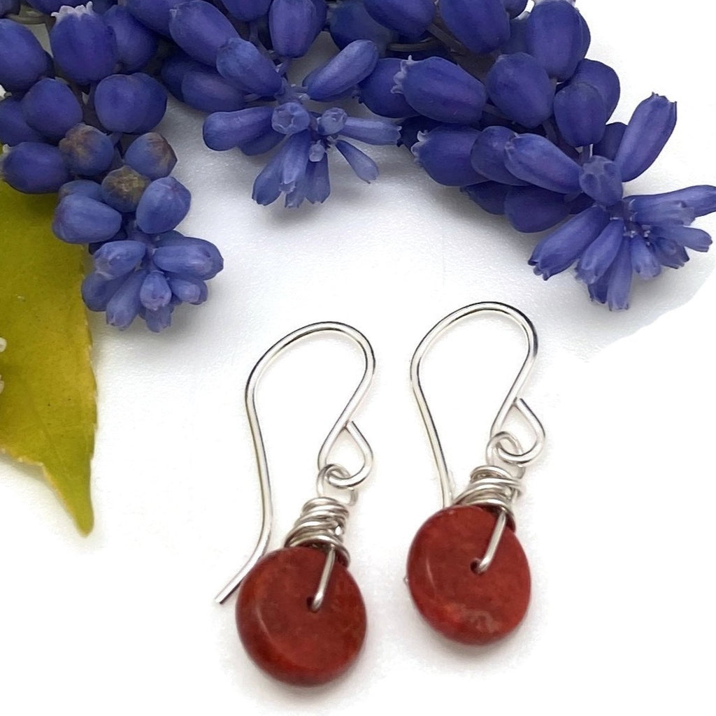 Wrapped Coral Earrings
