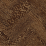 Close up of Karndean Art Select AP04 Sundown Oak Parquet Flooring laid herringbone.