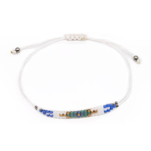 Tribal Seed Bead String Bracelet