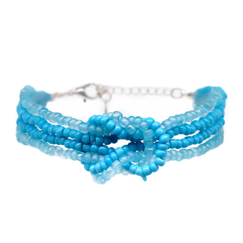 beaded knot bracelet adjustable