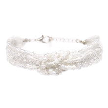 Load image into Gallery viewer, womens white beaded knot bracelet