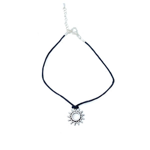 simple sun pendant charm anklet