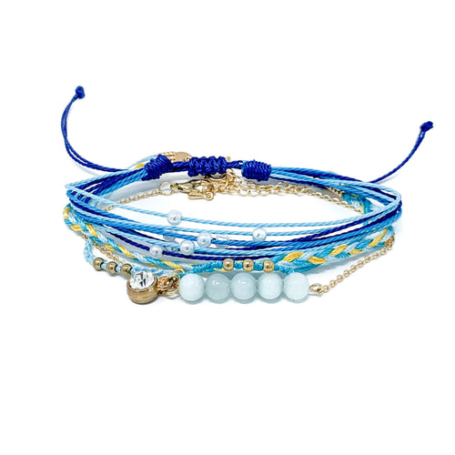 Charming Shark Royal Sea Beach Bracelet Stack