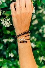 Load image into Gallery viewer, Black String Bracelet Pack for women or girls
