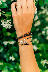 Black String Bracelet Pack for women or girls