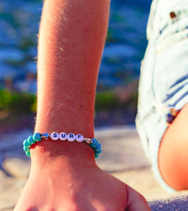 charming shark beaded surfer bracelet