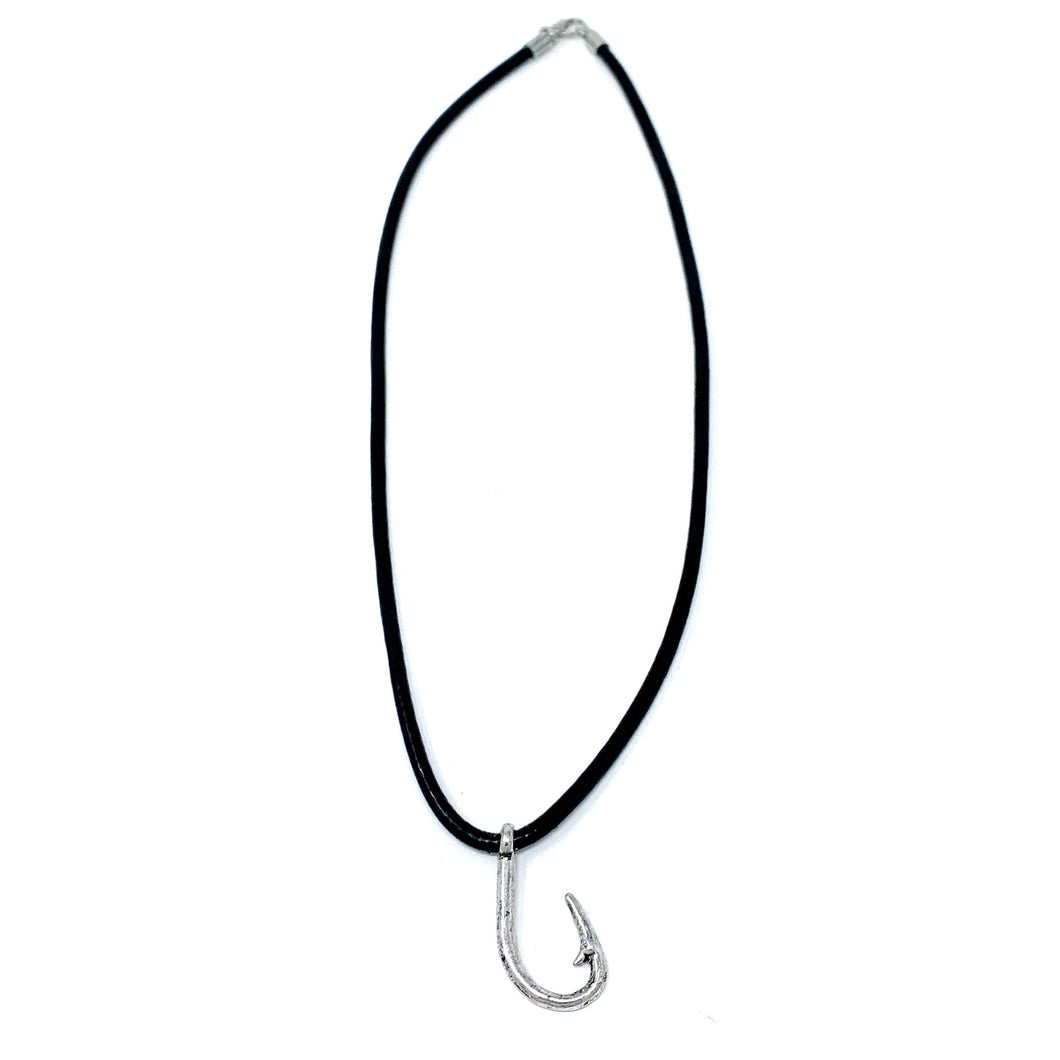 mens fishing hook necklace