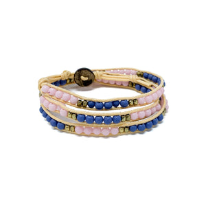 charming shark triple wrap beaded bracelets