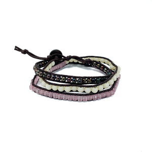 womens triple wrap beaded bracelets