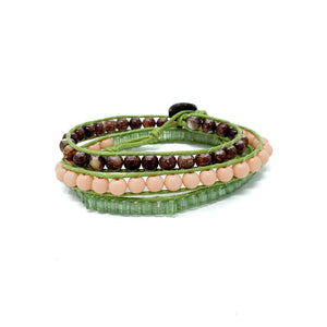 beach style triple wrap beaded bracelets