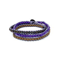 Load image into Gallery viewer, womens triple wrap beaded bracelets