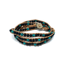Load image into Gallery viewer, charming shark triple wrap beaded bracelets