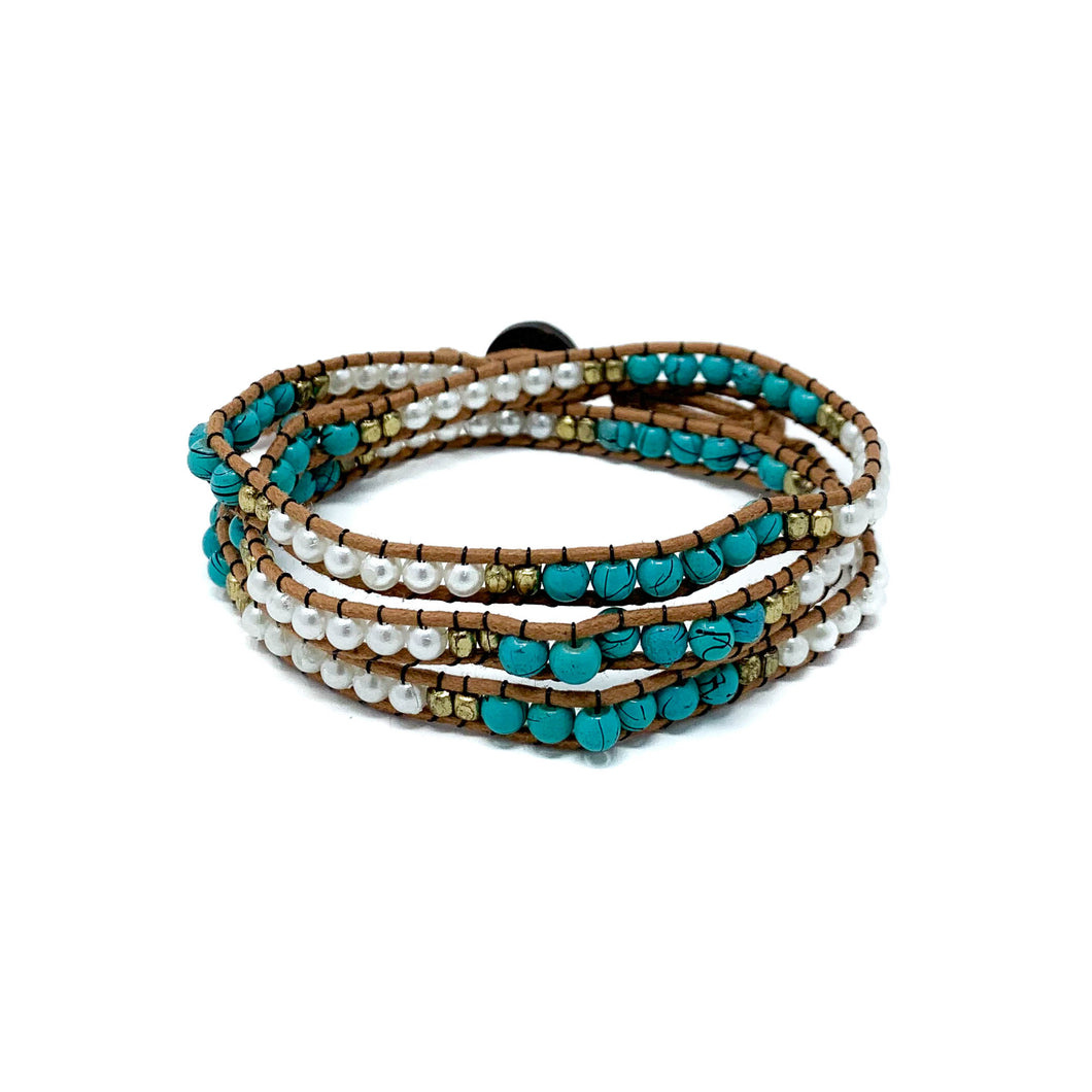 boho triple wrap beaded bracelets