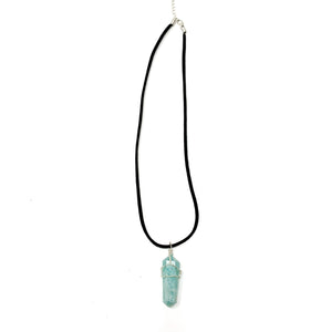 Amazonite healing crystal necklace