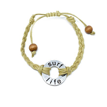 Load image into Gallery viewer, surf life braided bracelet