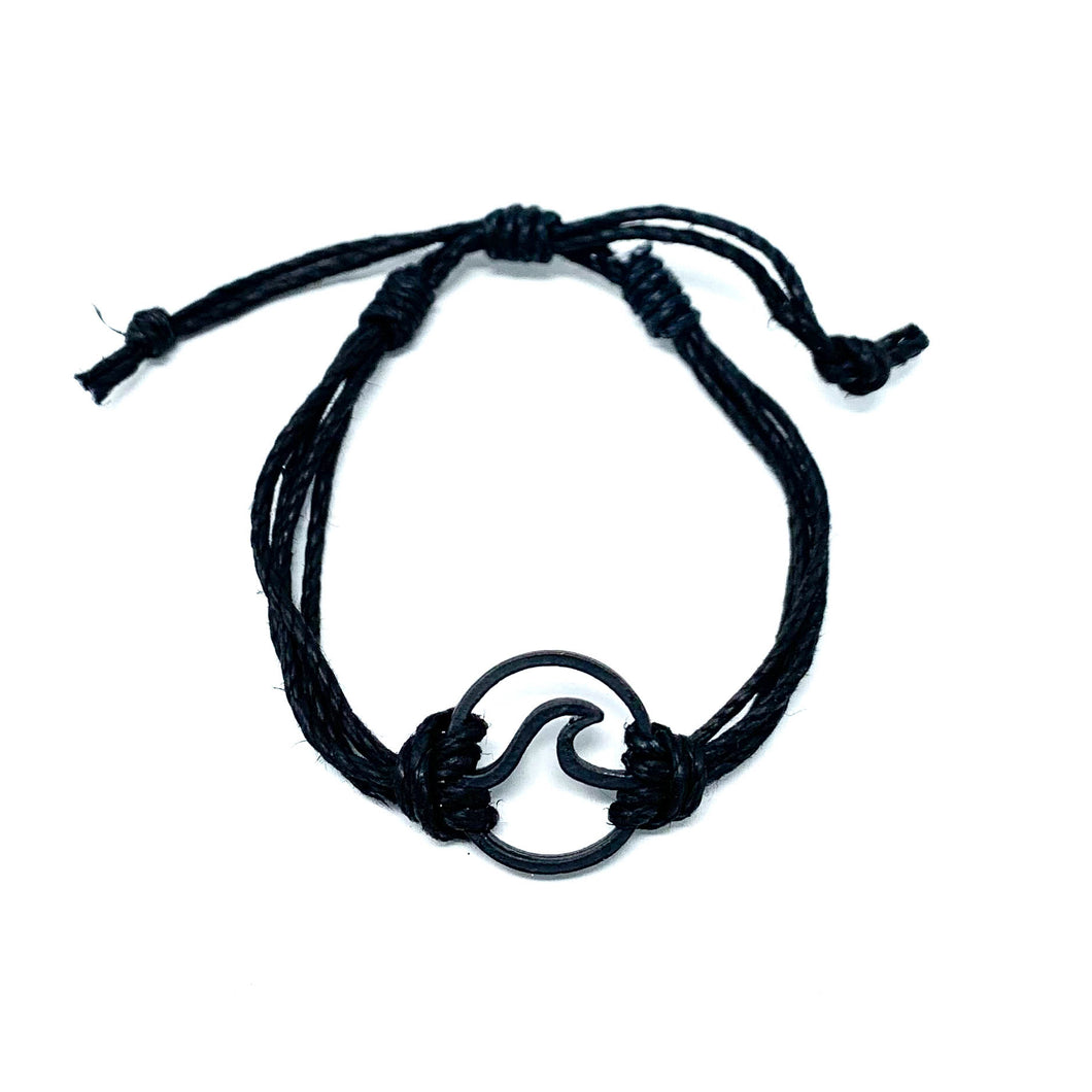 black wave pura vida string bracelet