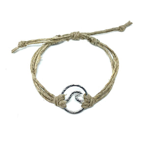 wave tan natural string bracelet
